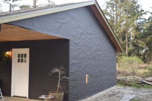 tar paper on now ready for siding